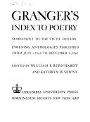 Granger s Index to Poetry PDF