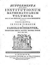 Institutiones mathematicae