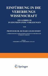 Einführung in die Vererbungswissenschaft: Ausgabe 5