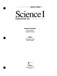 Science I Essential Interactions