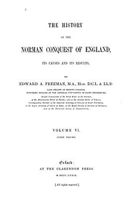 The History of the Norman Conquest of England  Index volume  1879 PDF
