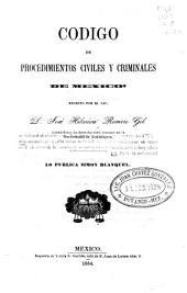 Codigo de procedimientos civiles y criminales de Mexico