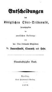 Entscheidungen des Königlichen Ober-Tribunals: Band 81