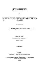 Sitzungsberichte der Kaiserlichen Akademie der Wissenschaften. Mathematisch-Naturwissenschaftliche Classe: Band 12