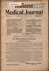 Indiana Medical Journal: A Monthly Journal of Medicine and Surgery, Volume 27, Issue 4