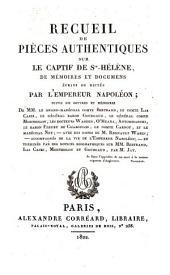 Recueil de Pieces Authentiques sur le Captif de Ste.-Helene