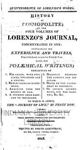 History of Cosmopolite: Or, The Four Volumes of Lorenzo's Journal