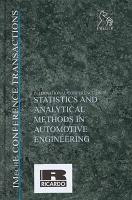 International Conference on Statistics and Analytical Methods in Automotive Engineering PDF