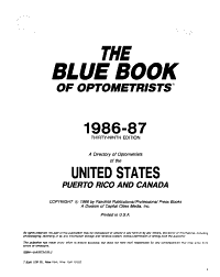 The Blue Book of Optometrists PDF