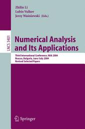 Numerical Analysis and Its Applications: Third International Conference, NAA 2004, Rousse, Bulgaria, June 29 - July 3, 2004, Revised Selected Papers