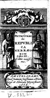 De republica Hebraeorum libri III