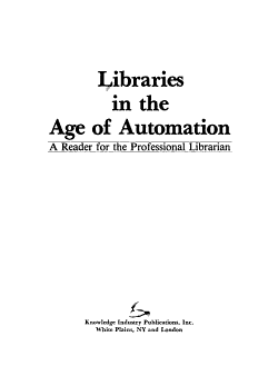Libraries in the Age of Automation PDF
