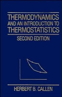 Thermodynamics and an Introduction to Thermostatistics PDF