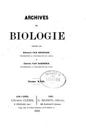 Arch biol (Liege): Volume 13