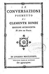 Le conversazioni poemetto di Clemente Bondi