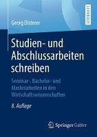 Studien  und Abschlussarbeiten schreiben PDF