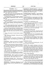 Bibliotheca Cornubiensis: Comprising a supplementary catalogue of authors, lists of Acts of Parliament and Civil war tracts, &c., and an index to the contents of the 3 vols