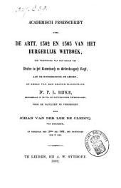 De artt. 1302 en 1303 van het burgerlijk wetboek