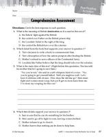 My Brother Sam Is Dead Comprehension Assessment PDF