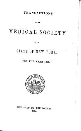 Transactions of the Medical Society of the State of New York PDF