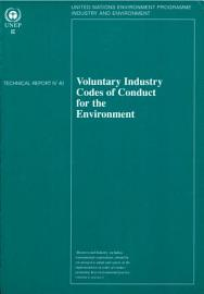 Voluntary Industry Codes Of Conduct For The Environment
