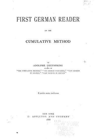 First German reader on the cumulative method PDF
