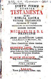 Svetu Pismu Stariga Testamenta: Id est: Biblia Sacra Veteris Testamenti, Količina 1