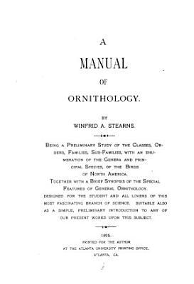 A Manual of Ornithology PDF