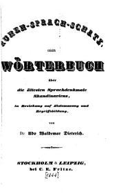 Runen-Sprach-Schatz: oder Wörterbuch über die ältesten Sprachdenkmale Skandinaviens, in Beziehung auf Abstammung und Begriffsbildung