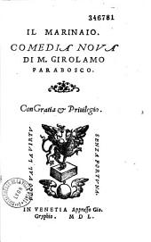 Il Marinaio, comedia noua di M. Girolamo Parabosco
