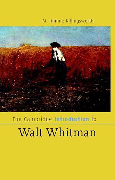 The Cambridge Introduction to Walt Whitman PDF