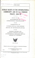 Human Rights in the International Community and in U S  Foreign Policy  1945 76 PDF