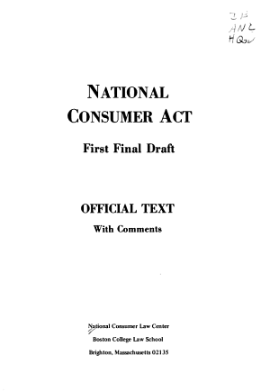 National Consumer Act  First Final Draft PDF