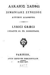 Alkaios Sapphō Simōnidēs Synesios Lyrikoi Diaphoroi