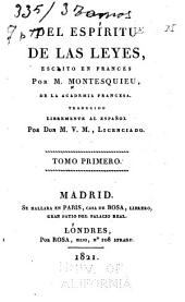 Del espíritu de las leyes: Volumen 1