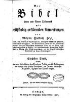 Die Bibel Alten und Neuen Testaments PDF