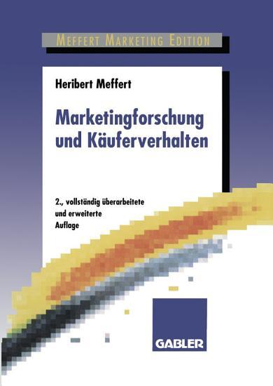 Marketingforschung und K  uferverhalten PDF