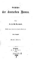 Geschichte der deutschen Hansa PDF