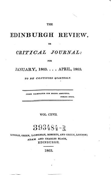 Download The Edinburgh Review  Or Critical Journal      To Be Continued Quarterly Book