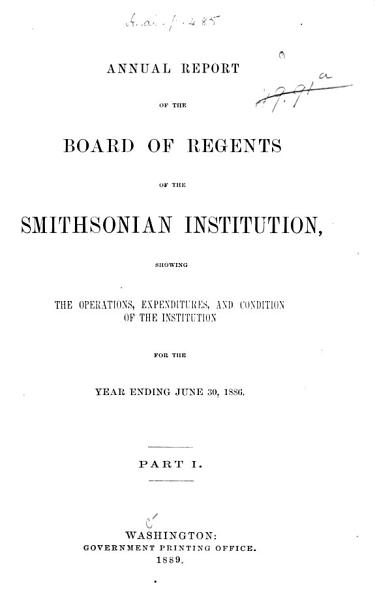 Download Annual Report of the Board of Regents of the Smithsonian Institution Book
