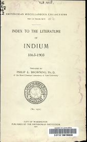 Index to the literature of indium, 1863-1903: Volume 46, Issue 6