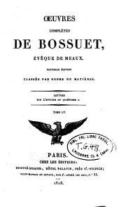 Oeuvres complètes de Bossuet: Volume55