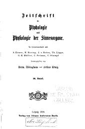 Zeitschrift für psychologie und physiologie der sinnesorgane: Band 18