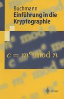 Einf  hrung in die Kryptographie PDF