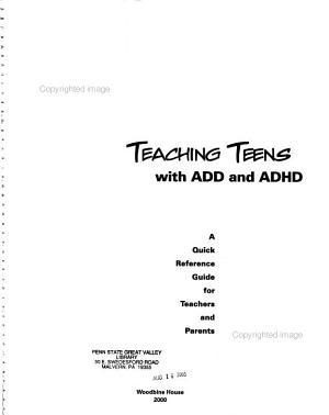 Teaching Teens with ADD and ADHD PDF