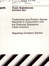 Toxic Substances Control Act (TSCA) Chemical Substance Inventory: Pages 1-572