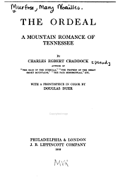 The Ordeal: A Mountain Romance of Tennessee