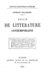 Essais de littérature contemporaine ...