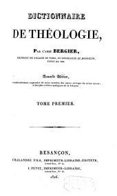 Dictionnaire de théologie: Volume1