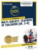 Multi Subject  Teachers of Childhood  Gr 2 6